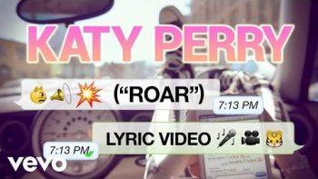 Katy Perry Roar Lyrics Video
