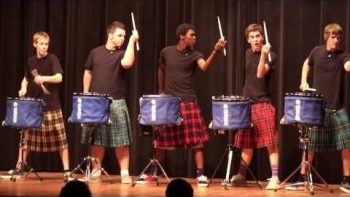 Hot Scots Drum Line High School Talent Show Performance