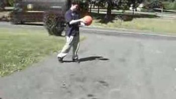 Over-Inflated Basketball Explodes When Bounced