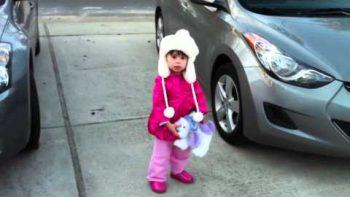 Little Girl Kayla Loves The Moon