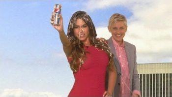 Ellen Interrupts Sofia Vergara's Diet Pepsi Commercial