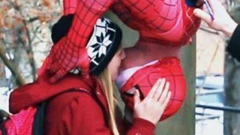 Spider-Man Kissing Prank