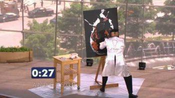 Speed Painter Paints Anderson Cooper Portrait Upside Down