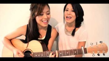 Two Korean Girls Cover Gangnam Style On Acoustic Guitar