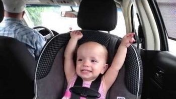 Adorable Baby Sings Along With Elvis In Car Ride With Dad
