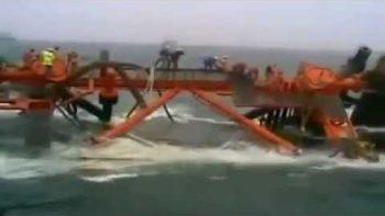 Iranian Oil Platform Sinks In Arabian Gulf