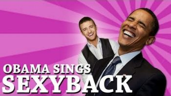 Barack Obama Singing SexyBack