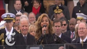 Beyonce Sings the National Anthem At Barack Obama 2013 Inauguration