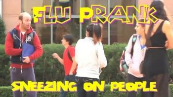 Sneezing On People Prank