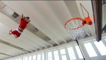 Faceteam Performs Amazing Basketball Trick Shot Acrobatics