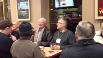 Old Men Sing Can You Feel The Love Tonight At Canadian Tim Horton's Coffee Shop