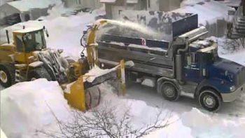 Canada Hit By So Much Snow They Have To Truck It Away
