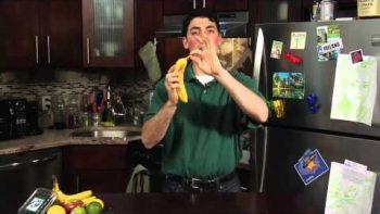 Super Awkward Guy 'Fruit Reviews' A Banana
