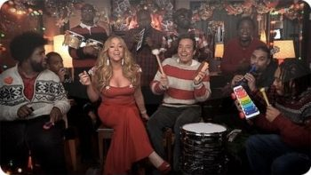 Jimmy Fallon And Mariah Carey Perform All I Want For Christmas Is You With Classroom Instruments
