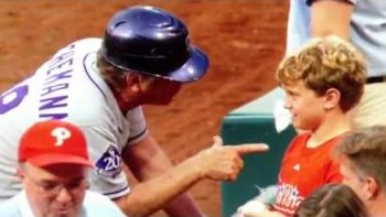 Rockies First Base Coach Rene Lachemann Gives Young Fan Life Lesson Speech