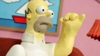 Homer Simpson The Last Peanut Scene Recreated In Claymation