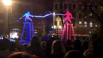 Two Men Perform Amazing Tesla Coil Lightning Show