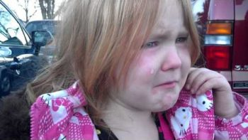 Little Girl Cries That She Is Tired Of Barack Obama And Mitt Romney