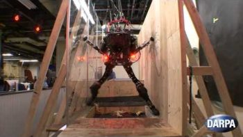 DARPA Robot Traverses Obstacle Course