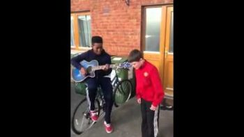 Two Irish School Boys Perform We Found Love By Rihanna