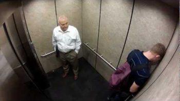 Being Awkward In Elevator Prank