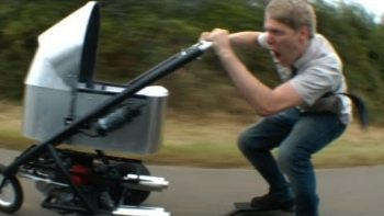 Dad Builds World's Fastest Gas Powered Stroller
