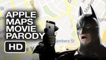 The Dark Knight Uses Apple Maps Parody