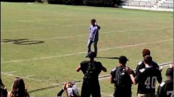 Exchange Student Performs Gangnam Style Horse Trot Dance At High School Pep Rally