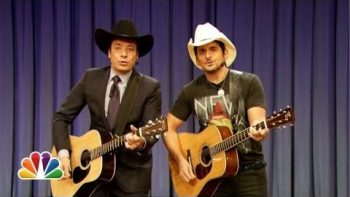 "Jimmy Fallon And Brad Paisley Perform ""Balls In Your Mouth"""