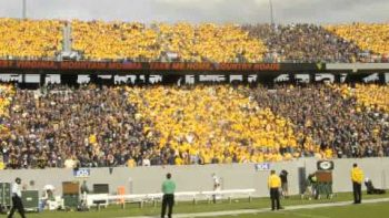 Entire WVU Stadium Sings Country Roads At End Of Game
