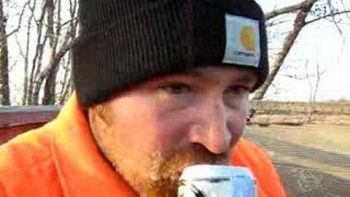 Deer Hunter Opens Can Of Beer Can-Opener Style With His Teeth, Chugs Beer In Five Seconds