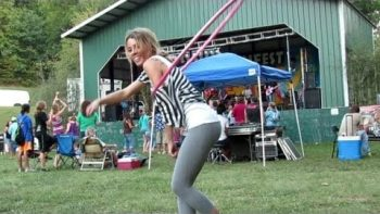 Hula Hoop Girl At Winfest Music Festival