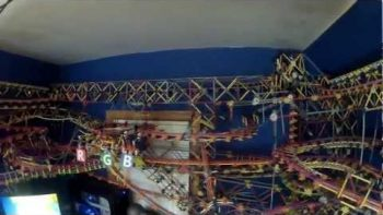 Gigantic K'nex Machine Wonderland Fills Room