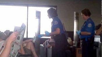 TSA Inspecting Travelers' Drinks INSIDE The Terminal
