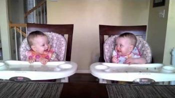 Twin Baby Girls Dancing To Dad's Guitar What Is Love Remix