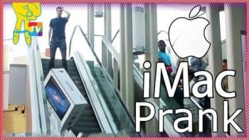 'Accidentally' Dropping Brand New iMac On The Street Prank