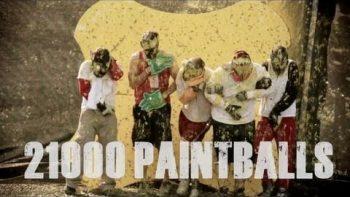 5 Guys Shot With 21,000 Paintballs To Raise Poverty Awareness In Haiti