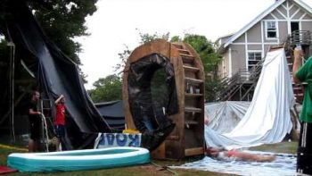 Backyard Water Slide With Full Loop