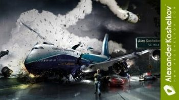 Luftbanza Airlines Amazing Photoshop Action Scene Time Lapse