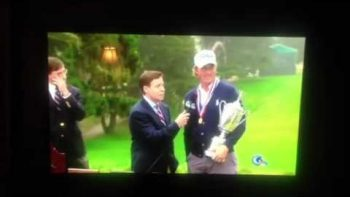 Crazy Guy Does Bird Call Interrupting Webb Simpson US Open Victory Speech