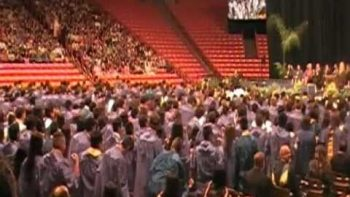 Eastwood High School Graduates Flash Mob Dance During Graduation Ceremony