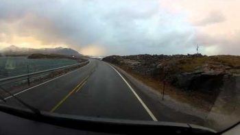Driving Down The Atlantic Ocean Road In Norway