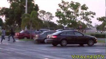 Attacking Zombie Prank In Miami