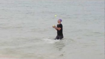 Man Completes Triathlon While Juggling The Entire Time
