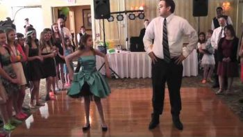 Adorable Father-Daughter Bat Mitzvah Dance Medley