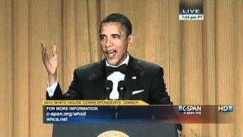 Jimmy Kimmel And Barack Obama At 2012 White House Correspondents' Dinner