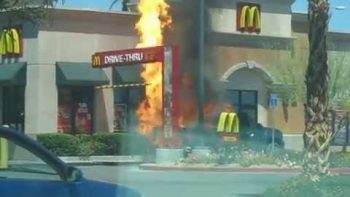 Truck Catches Fire, Explodes At McDonald's Drive Thru