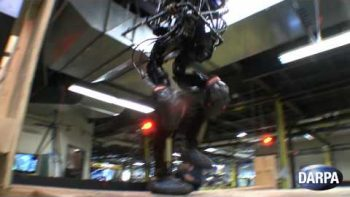 Bipedal Robot Climbs Stairs