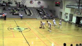 Shotgun Football Style Alley-Oop Play During Pride Of Iowa Basketball Game