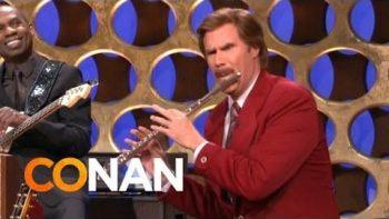 Ron Burgundy Announces Anchorman 2 On Conan
